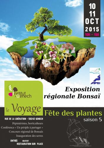 Affiche expo bonsai 2015